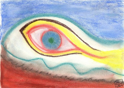 Oeil de pastel