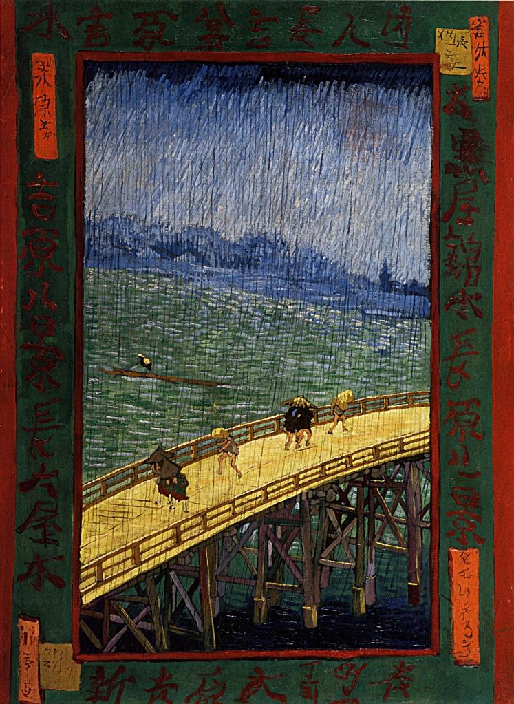 Pont sous la pluie, 1887 Vincent Van Gogh