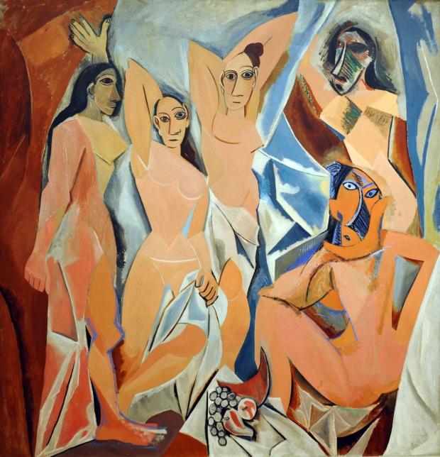 Les demoiselles d'Avignon, 1907,  Pablo Picasso