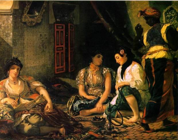 Femmes d'Alger dans leur appartement, 1834, Eugène Delacroix