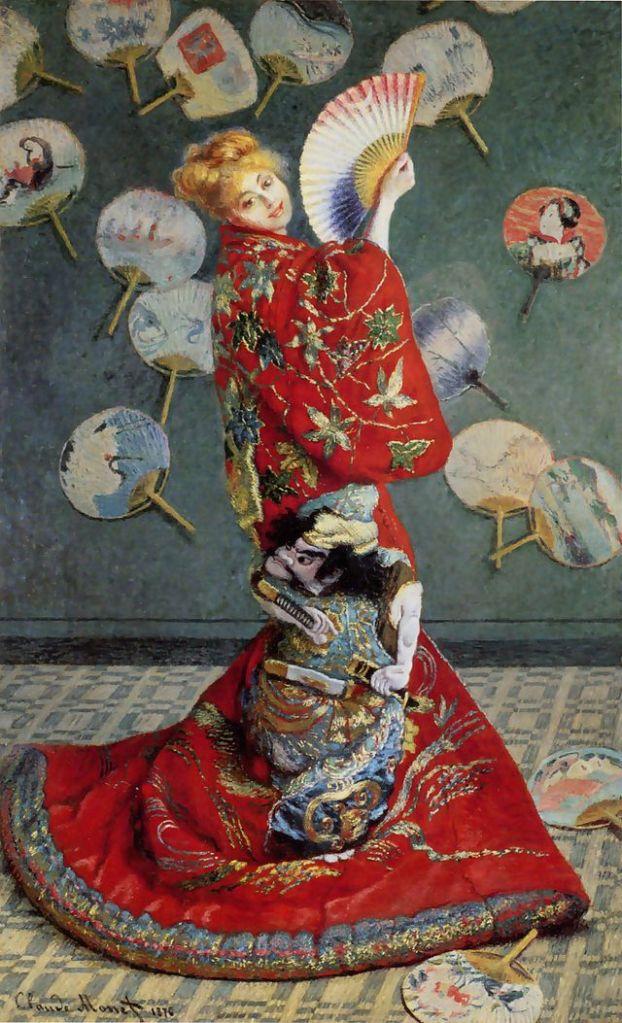 La Japonaise, (portrait de Camille Monet) 1876 Claude Monet