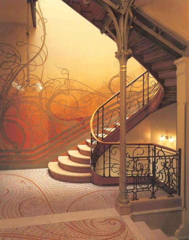 Victor Horta, Escalier, Hôtel Tassel, Bruxelles, 1893