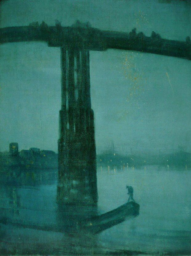Nocturne en bleu et argent: le pont d'Old Battersea, 1872-1875 James Whistler