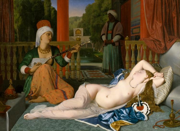 L'odalisque à l'esclave, 1839, Jean-Auguste Dominique Ingres