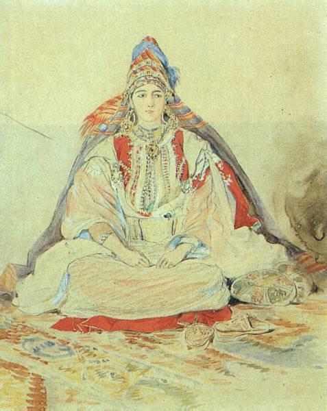 Mariée Juive de Tanger, 1832, Eugène Delacroix