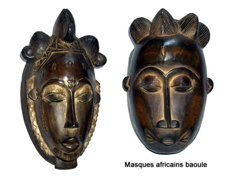 Masques de la tribu baoule