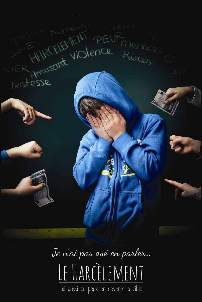 Affiche contre le harcèlement réalisée dans le cadre d'un concours