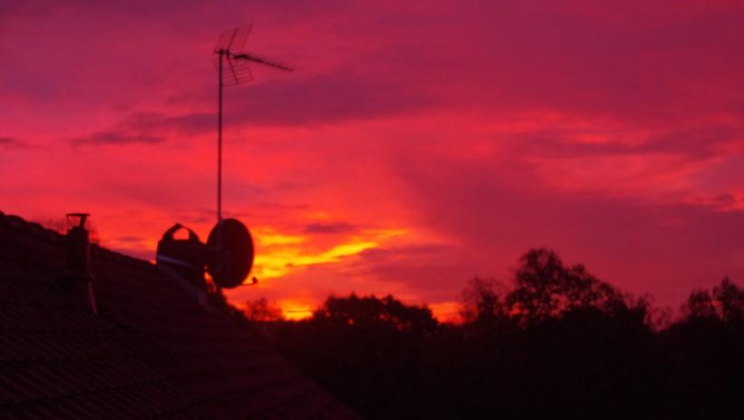 Un ciel rose