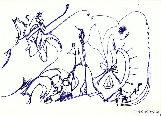 Illustration du poème Fraise et Crocodile