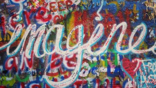 """Imagine"" sur le John Lennon Wall"