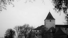 Le château de Prague alors que le soleil s'était caché
