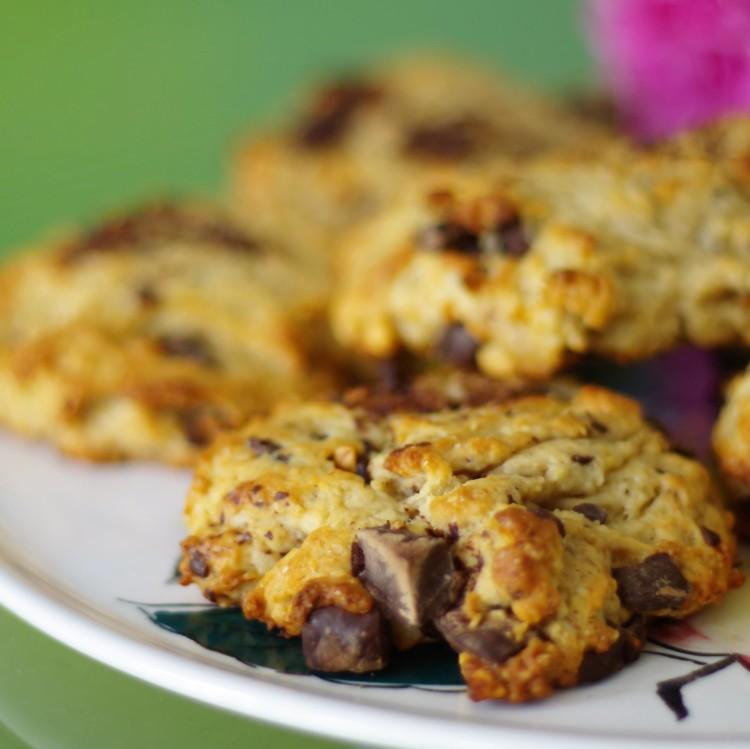 Cookies chocolat et banane (vegan)