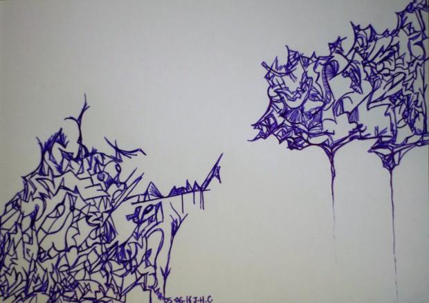 Illustration du poème Se sentir vivant.