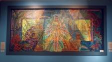 Ce tableau est peint avec du sperme (oui oui, vous avez bien lu) Vu au National Museum of Mexican Art (quartier de Pilsen) Chicago, IL.