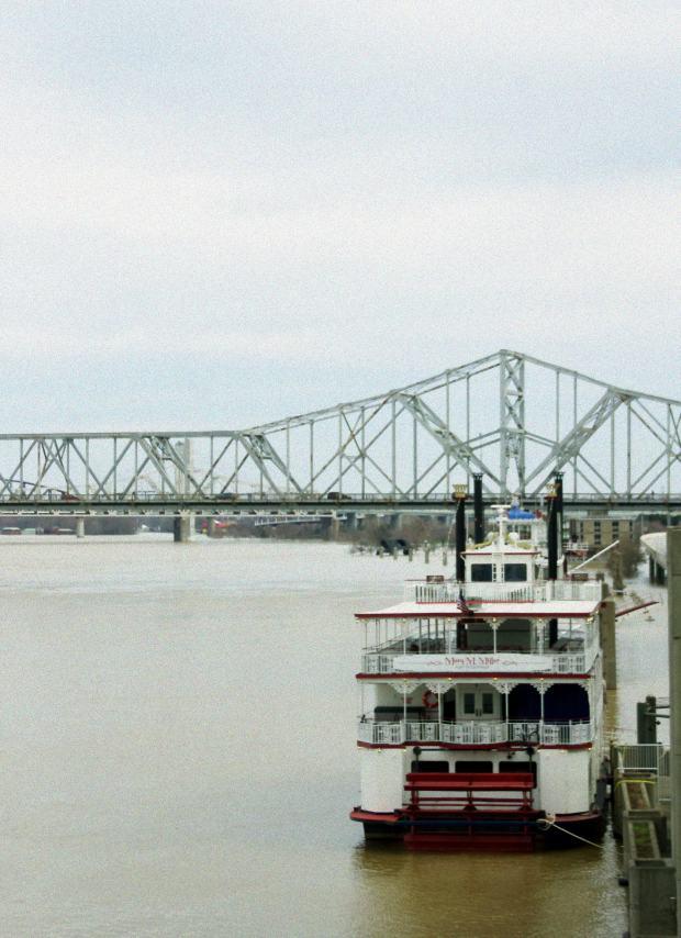 Un bateau sur la rivière Ohio